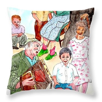 The Neighborhood Music Man Throw Pillow