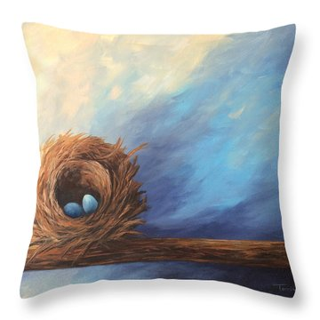 The Nest 2017 Throw Pillow by Torrie Smiley