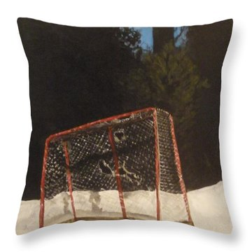Throw Pillow featuring the painting The Net. by Betty-Anne McDonald