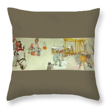 the Netherlands scroll Throw Pillow