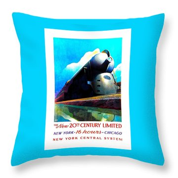 The New 20th Century Limited New York Central System 1939 Leslie Ragan Throw Pillow