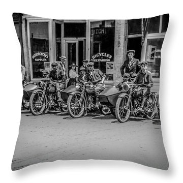 The New Bikes Throw Pillow