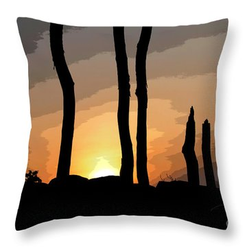 Throw Pillow featuring the photograph The New Dawn by Tom Cameron