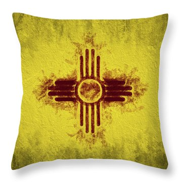 Throw Pillow featuring the digital art The New Mexico Flag by JC Findley