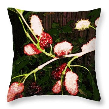 The New Mulberries Throw Pillow