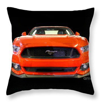 The New Mustang Throw Pillow by Vicki Spindler