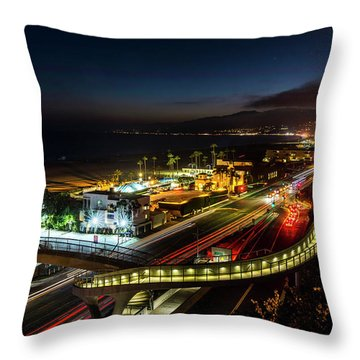 The New P C H Overpass - Night Throw Pillow