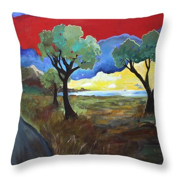 The New Road Throw Pillow