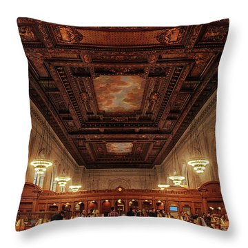 Throw Pillow featuring the photograph The New York Public Library by Jessica Jenney