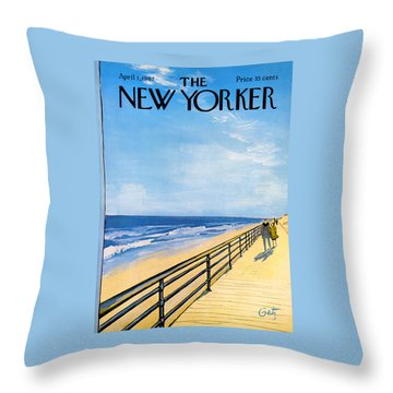 The New Yorker Cover - April 1st, 1967 Throw Pillow