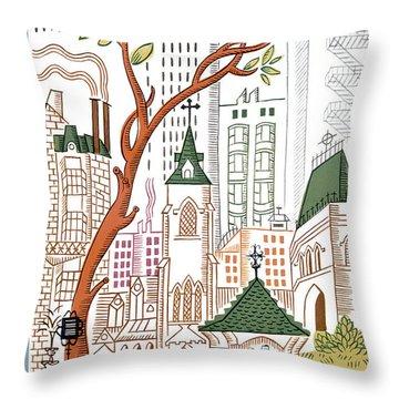 Sidewalk Throw Pillows