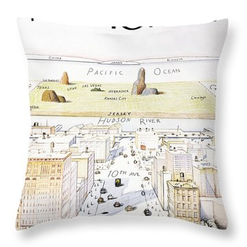 View From 9th Avenue Throw Pillow d1424ebf09