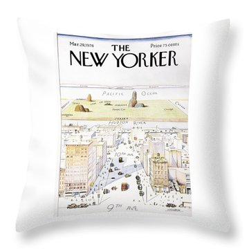 View From 9th Avenue Throw Pillow