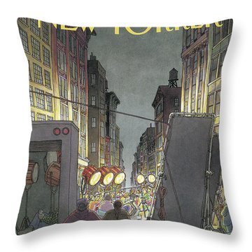 The New Yorker Cover - March 8th, 1993 Throw Pillow