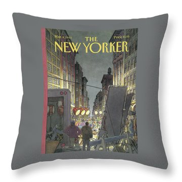 New Yorker March 8th, 1993 Throw Pillow