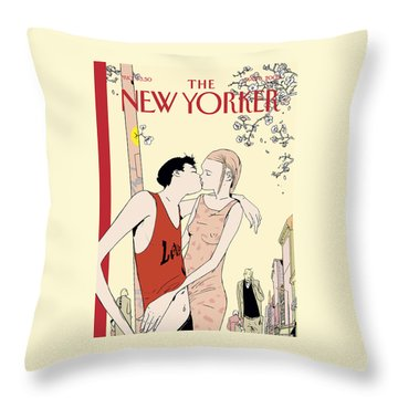 The New Yorker Cover - May 6th, 2002 Throw Pillow