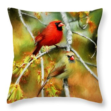 The Newlyweds Throw Pillow