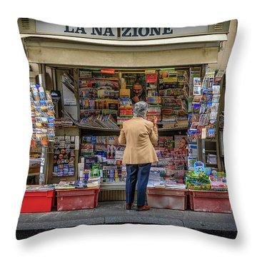 The News Zone Throw Pillow
