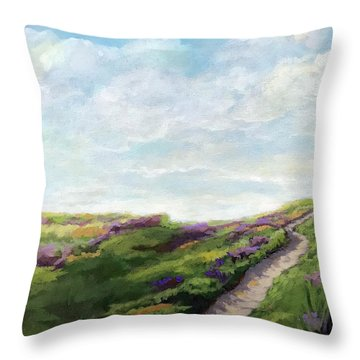 The Next Adventure - Landscape Painting Throw Pillow