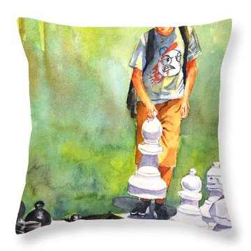The Next Move #1 Throw Pillow
