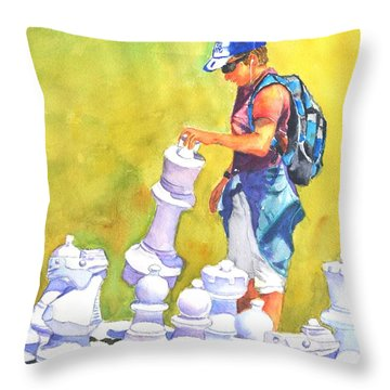 The Next Move #2 Throw Pillow