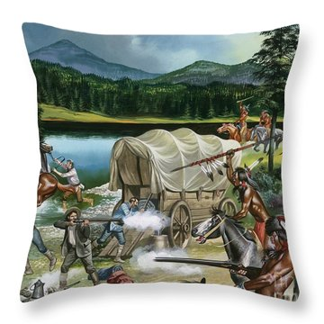 The Nez Perce Throw Pillow by Ron Embleton