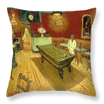 The Night Cafe Auto Contrasted Throw Pillow