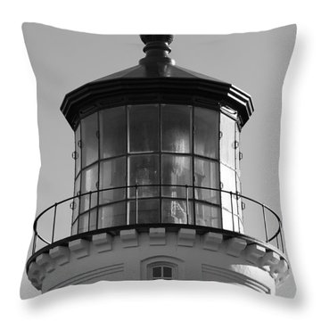 Throw Pillow featuring the photograph The Night Light by Laddie Halupa