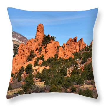 Throw Pillow featuring the photograph The High Point View by Adam Jewell