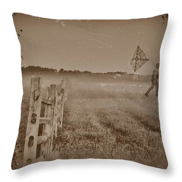 The Night They Drove Old Dixie Down Throw Pillow by Bill Cannon