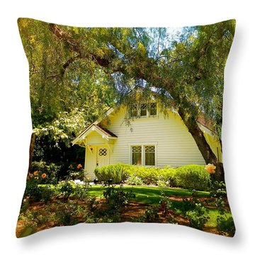The Nixon Home  President Richard Nixon  Throw Pillow