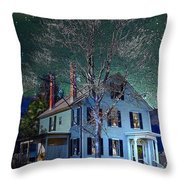 The Noble House Throw Pillow