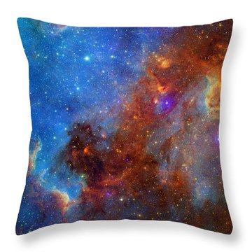 Throw Pillow featuring the photograph The North America Nebula In Different Lights by NASA JPL - Caltech