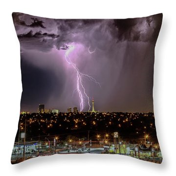 Throw Pillow featuring the photograph The North American Monsoon by Michael Rogers
