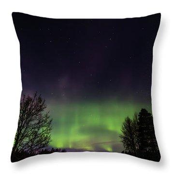 The Northern Lights Aurora Borealis  Throw Pillow