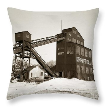 The Northwest Coal Company Breaker Eynon Pennsylvania 1971 Throw Pillow