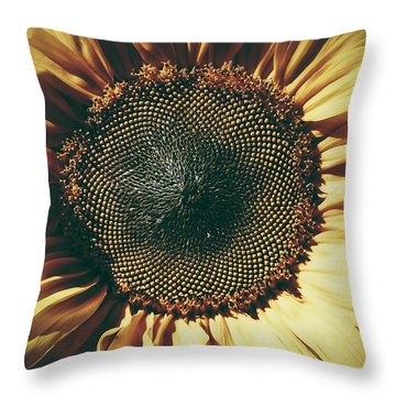 Throw Pillow featuring the photograph The Not So Sunny Sunflower by Karen Stahlros