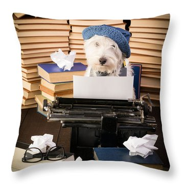 The Novelist Throw Pillow by Edward Fielding