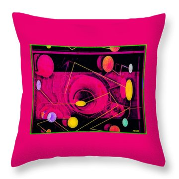 The Nu Solar System Throw Pillow by Tony Adamo
