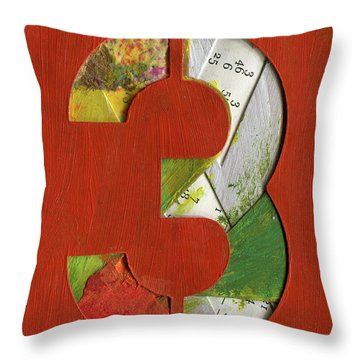 The Number 3 Throw Pillow