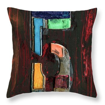 The Number 5 Throw Pillow