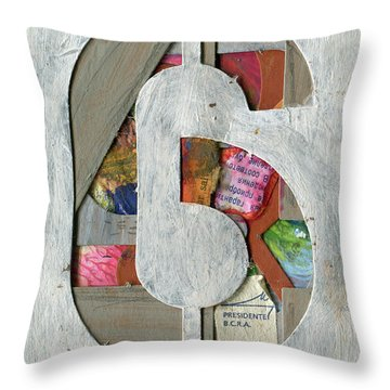 The Number 6 Throw Pillow