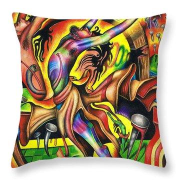 The Numinous Spectrum Of Exaltation Throw Pillow