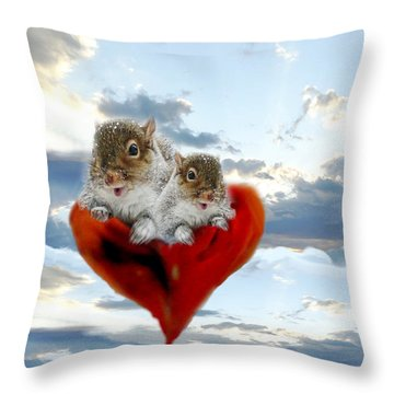 The Nuttings Are Coming Throw Pillow by Mike Breau