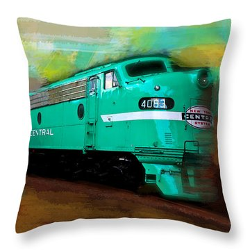 Flash II  The Ny Central 4083  Train  Throw Pillow