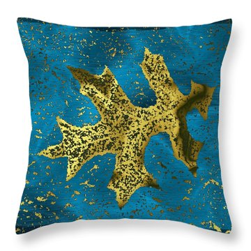 The Oak Leaf And The Wind Storm Throw Pillow by Tim Allen