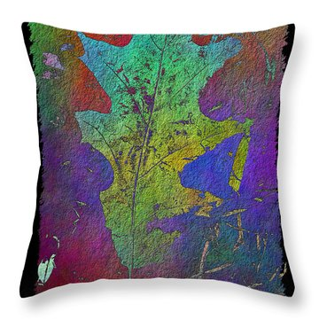 The Oak Leaf Throw Pillow by Tim Allen