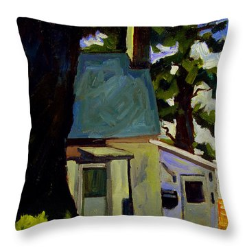 Throw Pillow featuring the painting The Oak Of Morgan by Charlie Spear
