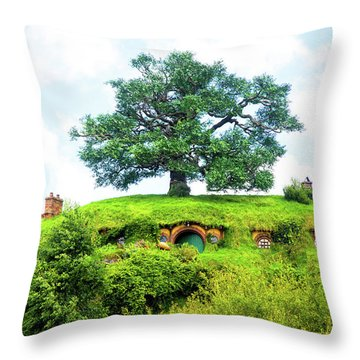 The Oak Tree At Bag End Throw Pillow