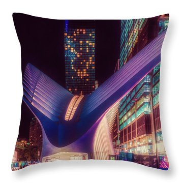 Throw Pillow featuring the photograph The Occulus At Midnight by Chris Lord